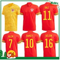 2020 Wales Home Soccer Jersey 2021 Bale James Ramsey Adult Man + Kids Kit Sports Football Shirt