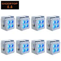 4x18W powerd batería LED PAR inalámbrica etapa RGBWAUV 6en1 iluminación hacia arriba par para las discotecas discoteca dj fiesta en casa pequeño espectáculo