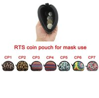 Small Neoprene Zipped Coin Pouch Mask Holder Sunflower Leopard MultiFunction Earbud Case Earphone Pouch Face Mask Storage Bags