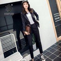 2020 Autumn Women's Blazer Pantaloni Suits Solid Ufficio Lady Lady Fashion Moda Moda Collare Single Breasted Due pezzi Set S96929D1
