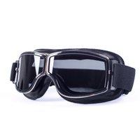 evomosa العالمي للدراجات النارية خمر نظارات الطيار دراجة نارية سكوتر السائق النظارات Steampunk نظارات لهارلي الخوذة