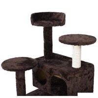 New Cat Tree Tower Condo Мебель Scratch Post Kitty PE Qylahj Toys2010