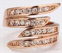 Bagues de femmes Rose Gold Filled Robe en or 18 carats de diamants Bagues de fiançailles Bagues diamant maçonniques