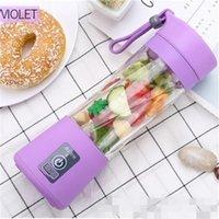 USB 미니 Juicer 다기능 휴대용 주스 컵 전기 요금 과일 블렌더 멀티 컬러 야채 과일 비 독성 PP 20 2DL D2