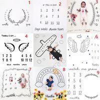 Kinder Ziffer Brief Blume Decken Photo Prop Fotografie Decke Kind Swaddling Digitaldruck Baby Schlafsack 100 * 100 cm 27 Arten C16