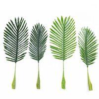 Fiori decorativi Corone 1 pz / 2pcs Artificiale Girasole Foglia di palma foglie tropicali albero di Natale decorazione di natale fai da te decorazioni floreale di nozze1