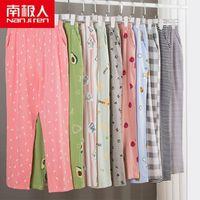Sleepwear das mulheres Nanjiren Mulheres Modal Pijama Calças Moda Feminino Sleep Elastic Bottoms Casual Home Calças1