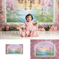 Fotografías de fondo Newborn Kids Castle Hot Air Globones Windows Foto Fondo Estudio Flores retrato Foto Shoot video1
