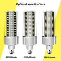 Discount Super Bright LED E27 Corn Bulb 80W-200W LED Lamp 110V 220V Smart IC E39 E40 Big Power For Outdoor Playground Warehouse Lighting