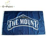 NCAA Mount St. Mary's Dağcı Bayrağı 3 * 5ft (90 cm * 150 cm) Polyester Bayrak Banner Dekorasyon Uçan Ev Bahçe Bayrağı Şenlikli Hediyeler