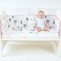 Baby-Bett-Bumpers Baumwolle Baby-Krippe-Schutz Cartoon Länge 120cm Cot Bumpers in der Krippe für Neugeborene Multicolor Nestchen 35 Mädchen Beddi n1nD #
