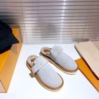 Tasarımcı Loafer'lar Muller Muller Terlik Toka Ile Moda Kadınlar Princetown Bayanlar Rahat Kürk Mul Düz Ayakkabılı Kutusu Boyutu 35-45