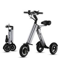 10 inch elektrische driewieler scooter off-road drie wielen elektrische scooters opvouwbare kick scooter elektrische 36v 250W bereik 45km