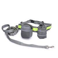 الحيوانات الأليفة الكلب المقود الأيدي الحرة الجر حزام مقعد قابل للتعديل الجر المقود في الهواء الطلق الرياضة المشي قيد التشغيل الجر حبل T9I00977 205 G2