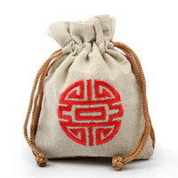 Joyas de la bolsa de la bolsa Apertura de la corazora SALtar la bolsa de lino pequeño Bolsa de tela de regalo Material de cáñamo de cáñamo Bolsas de brocado Venta directa de la fábrica 1 55kl P1