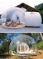 3M Ao ar livre camping inflável barraca de bolha grande Diy Clear House Home Backyard Cabine Lodge Air Bolhas Tendas Transparentes