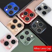 카메라 렌즈 전체 화면 보호기 금속 합금 카메라 렌즈 보호 필름 커버 아이폰 12 미니 11 Pro Max X XR 7 8 플러스 소매 상자