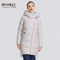 Miegofce 2020 Kış Koleksiyonu Kadın Sıcak Ceket Gerçek Bio Parka Ile Yapılan Kadınlar Hood Coat T200831 ile Rüzgar Geçirmez Stand-Up Yaka