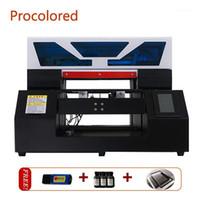 Проконсультированный полный автоматический УФ-принтер A4 с сенсорным экраном для бутылки PVC Чехол для телефона футболка акриловая металлическая DTG
