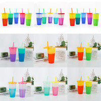 10 Styles 24oz Color Changing Cup Magic Plastic Drinking Tum...