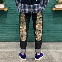 2021 أحدث جينز الرجال يتأهل مستقيم أنبوب مستقيم فضفاضة الأوسط الخصر جينز السراويل الرجعية لون الجينز الرجال