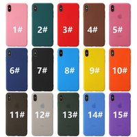 Matte TPU Phone Case für iPhone12 Mini iPhone 12 11 Pro Max iPhone 11 XR xs max 7 8 6 Plus Farbe Telefon Fall Back Cover Protection 15 Farbe