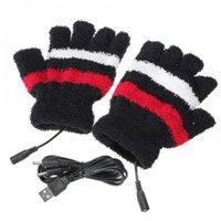 Unisex kvinnor dator värmeklov USB handske tangentbord håller varma varma handskar hand varmare fingerlös vinter utomhus sport