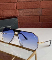 Vintage 905 Occhiali da sole Orologio Oro Bianco Bianco Blu Gradient Lens Unisex Occhiali da sole Shades UV400 Protezione con scatola