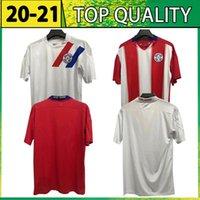 Paraguay National Copa América Football Team 2020 2021 جديد لكرة القدم الرئيسية الأحمر الأبيض الفانيلة قميص كرة القدم
