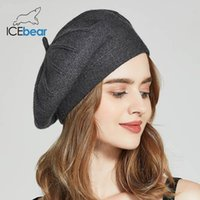 İcebear Kış Şapka İçin Kadınlar Sonbahar Örme Yün Boyacı Caps Yeni Moda Katı Renk İçin Lady e-MX18133