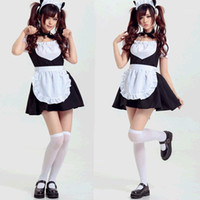 Süße Anime Katze Glocke Mädchen Kleid Claasic Cosplay Kostüm Mädchen Kawaii Lolita Kleid Kaffee Maidservant Uniform1