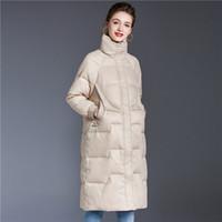 Damen Winterjacken Mäntel Lange Marke der neue Entwurf 2020 neue Art und Weise Daunen Parka Mantel-Qualitäts-Oberbekleidung Frauen Warm