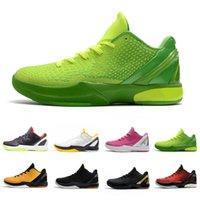 Nike Kobe Bryant 2020 Grinch Schwarzes Gold Mode Proto 6 Mens-Basketball-Schuhe 6s Think Pink Männer Trainer weich Atmen im Freien athletischen Sport Turnschuhe 40-46