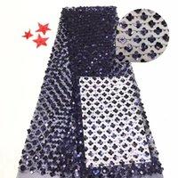 Belle broderie en tulle à la mode Tissu de dentelle nette française BZL-8.0506 avec paillettes pour la tenue de soirée