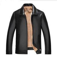 Hommes Veste en cuir véritable peau de mouton d'hiver Veste homme laine naturelle manteaux de fourrure réel col Vestes YC1993 MY771
