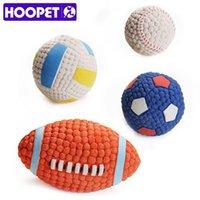 Dog Toys жует Hoopet Pet Toy Balls Squeak Щенок интересный теннисный футбол уборка зубов для собак
