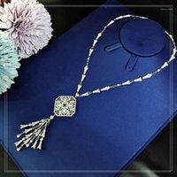 Colares de pingente de fashion high-end Moda Grand Lady Banquete Colar Verde A luz da festa de dança e decoração online Celebrit1