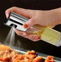 Барбекю Приготовление стекла масло опрыскиватель стекла Масло оливковое опрыскиватель насос из нержавеющей стали Spray Oil Распылитель Can Jar Пот Kitchen Tool GGA3762