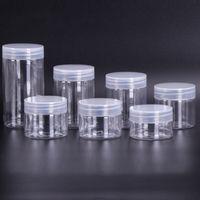 30 40 50 60 80 мл пластиковые банки прозрачные PET PLADEL CASIC CANS BABES Круглая бутылка с пластиковыми / алюминиевыми крышками YYS3510