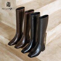 Все-матч для похудения Корейская версия Square Toe High-Tube Knight Boots Осень зима Новый Средний каблук Стремящиеся Сапоги женские Мода Black1