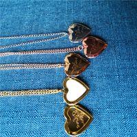 Sublimation leeres Herz Medaillon Foto Halskette Anhänger Mode Medaillon Kettenanhänger heißen Tranfer Druck Verbrauchsmaterial