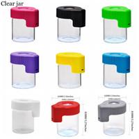 Cookies LED Light Tobacco Recipiente de Plástico Recarregável Medicina de Medicina Capas de pílula Jars 155ml Herb Magnifier Armazenamento de Vácuo