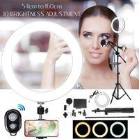 Lampeggia il treppiede della luce anello con supporto 8pcs / set Bluetooth Selfie ShuttersCamera per il trucco YouTube Video Popograph1 Live