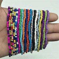 Crystal Beads Anklets Bracelets Women Girls Handmade Beach Anklet Stretch Bangle Ankle Wrist Bracelet Barefoot Sandals Foot Jewelry LY10191