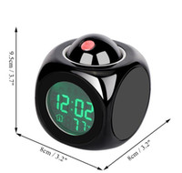 Projection Alarm Clock With Led Lamp Digital Voice Talking Function Led Wall Ceiling Projection Alarm Sn Temperature Display bbyxVCf