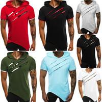 Camiseta Camiseta de manga corta de algodón casual de algodón de verano de verano con invierno quebrantado en invierno aptitud personalizada TOP1