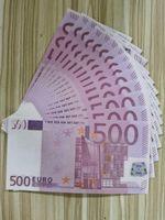 Kağıt Banknot 500 Sahte Para Euro Euro Kopyalama Öğrenme Prop Para Yeni 100 adet / paket Oyuncaklar Aracı IAINGD