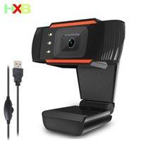Webcams HD PC-Webkamera Gamer Webcam-USB-Videoaufzeichnung mit schallabsorbierendem Mikrofon-LED-Fokus-Cam für YouTube Live-Sendung