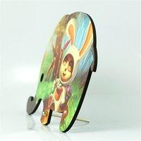 Sublimation Blank Elephant Wooden Peintures Enfant Cadeaux Enfant Peinture en bois Lapin Animal Desktop Ornements Enfants Mignon 11 4xMB P2