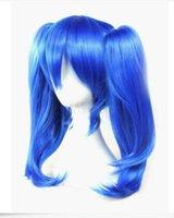 Uzun Mavi Düz Isıya Dayanıklı Kagerou Project Moda Cosplay Peruk